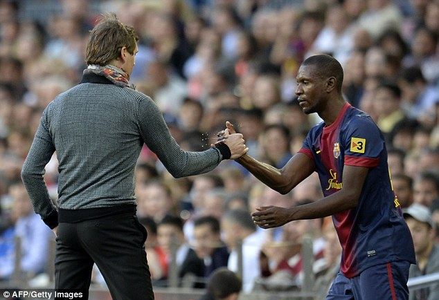 Eric Abidal wishes to end career in Barcelona