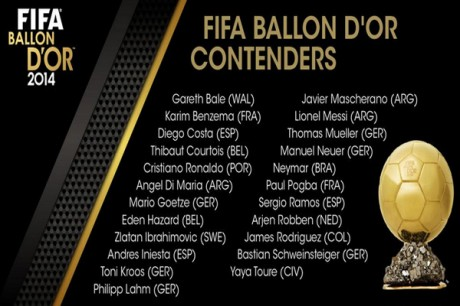 Meet the contenders to the FIFA Balon d'Or