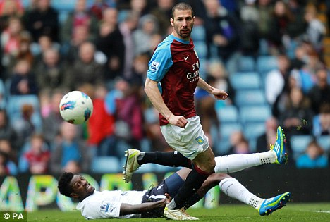 Cuellar to leave Aston Villa at the end of the season