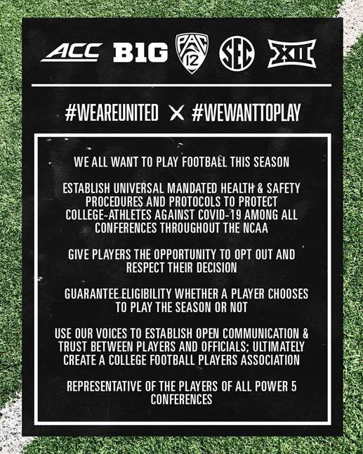 College Football Players Statement